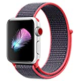 Dwayne C Compatible for Apple Watch Band 38mm 42mm Soft Lightweight Breathable Nylon