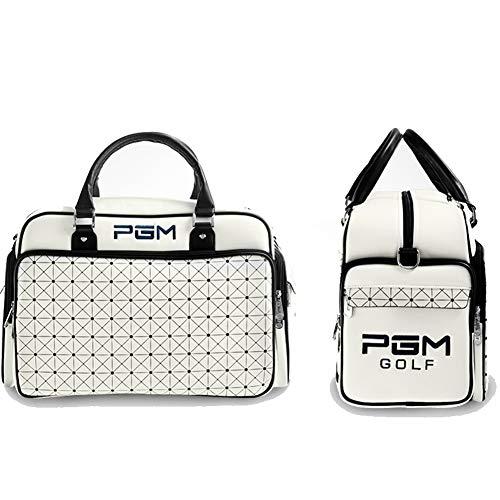 LXYIUN PGM Golf Kleidung Tasche Wasserdicht PU Leder große kapazität Tragbare Doppel Schicht Unabhängige Golf Schuhe Tasche (Nike Schuhe Tasche Golf)