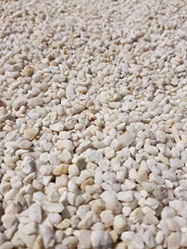 Der Naturstein Garten 50 kg Quarzkies 2-5 mm weiß - Zierkies Quarzsand Splitt Kies Lieferung KOSTENLOS