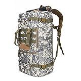 JBHURF Borsa da alpinismo sportivo 50L grande capacità zaino camouflage campeggio escursionismo zaino bagagli multiuso - camuffamento bianco (Colore : White camouflage)