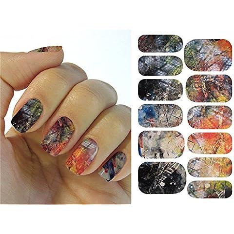 Arte de uñas: Calcomanías y autoadherentes Transferible con Agua KH009A Pegatina Tatuaje para Uñas Nail Sticker -
