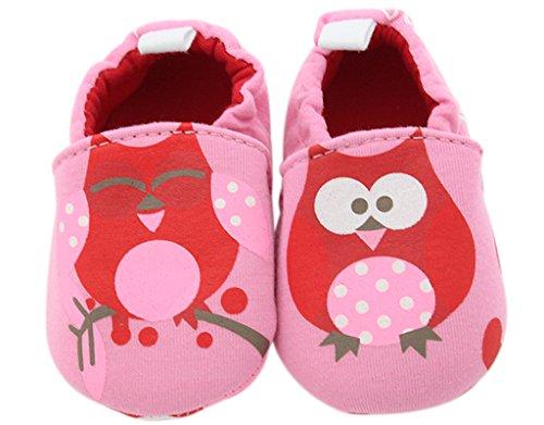 BONAMART Baby Mädchen Jungen Schuhe Pantoffeln BabySchuhe Für 0-24 Monaten RosaEule