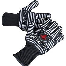 parrilla de guantes soportar calor hasta f u premium guantes de horno resistente al calor y barbacoa u juego de guantes de cocina aislamiento por