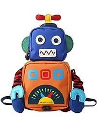 Y-BOA Sac à Dos De Sécurité Mignon Robot Enfant Fille Garçon Maternelle Backpack École Loisir Marine