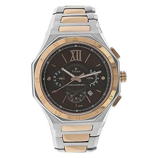 51GipnE0bTL. SS510  - Titan 1716KM01 Regalia Rome Chronograph Brown Mens watch