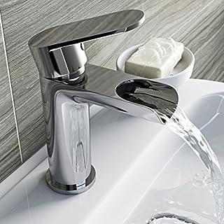 Moderne Wasserfall Badezimmer Waschbecken Einhebelmischer, chrom Hebel Wasserhahn