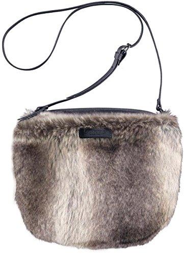 Barts-Sacco in finta pelliccia, colore: grigio, modello junior e da donna, 19 x 23 cm, colori Grigio