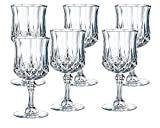#5: DUCATI 100% Crystal Glass Heavy Base Long Whiskey Glasses/Beer Glasses with Long Stage Set of 6 | 350 ml Drinking Glasses- Ideal for Whiskey, Vodka, Tequila| Bar tools | Bar Accessories