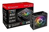 Thermaltake Smart RGB 600W 80+ 256 colori RGB Fan ATX 12V 2.3/ Kaby Lake Ready Power Supply/ 5 anni di garanzia/Nero/UK Spec