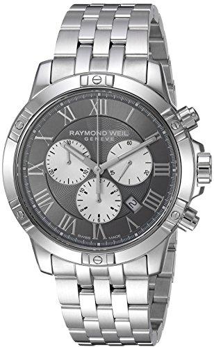 Raymond Weil Herren Chronograph Quarz Uhr mit Edelstahl Armband 8560-ST-00606