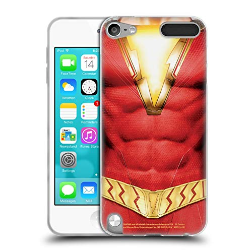 Head Case Designs Offizielle Shazam DC Comics Kostuem Logos Soft Gel Huelle kompatibel mit Apple iPod Touch 5G 5th Gen