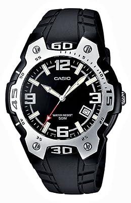 Reloj de caballero CASIO Collection MTR-102-1A1VEF de cuarzo, correa de resina color negro de Casio