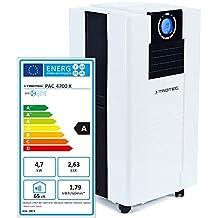 Climatizzatore Portatile a 16000 Btu, Condizionatore D'Aria Locale TROTEC Pac 4700 X Monoblocco 4,7 Kw, EEK A