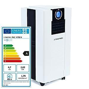 Trotec Pac 4700X Climatiseur portable à 16000BTU, Conditionneur d'air local monobloc 4,7kW, EEK A