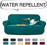 AUJOY Stretch Sofa Cover Water-Repellent Couch Covers Dog Cat Pet Proof Couch Slipcovers Protectors