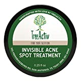 Treeactiv+ Treeactiv Invisible traitement de l'acné spot All Natural Goes On Works clair sous le maquillage Réduit rapidement Imperfections Safe pour peau sensible