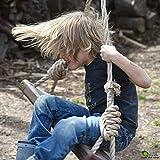 """AD Planet Rope Swing, Tree Swing, Backyard Tree Swing, Handmade Tree Swing, Rustic Swing, Adult Swing, Wood Tree Swing, Rustic Garden 24"""" x 10"""""""