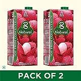 Best Juices - B Natural Litchi Juice 1L, (Pack of 2) Review