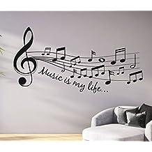 Tjapalo® Pkm46 S 120cm Wandtattoo Wohnzimmer Musik Wandtattoo Musik Ist  Mein Leben Music Is