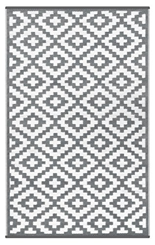Green Decore 120 x 180 cm Nirvana Intérieur / Extérieur / Léger / Tapis Ecologique Réversible / Gris / Blanc
