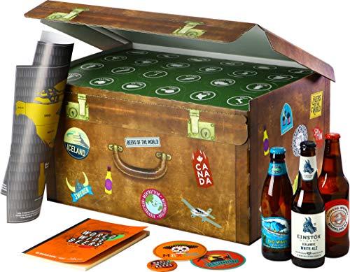 Coffret World Wide Beers - Pack 24 bières du monde - Idée Cadeau - Saveur Bière
