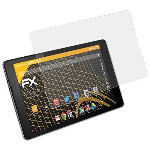 atFolix Panzerfolie kompatibel mit Vodafone Tab Prime 7 Schutzfolie, entspiegelnde & stoßdämpfende FX Folie (2X)
