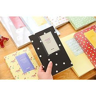Akooya Photo Album Polaroid Namecard Storage Case Mini Film 84 Pockets for Fuji Instax mini 8 -white dot