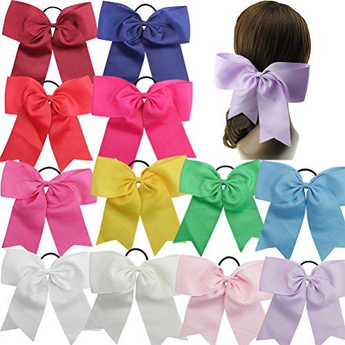 HBF 15 stk Haarspange Pferdeschwanz-Halter elastisch Haarreif extra Größe 20 cm für Mädchen und junge Frauen