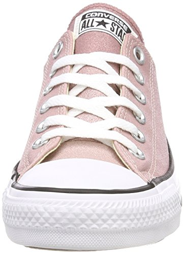 Converse Ctas Ox, Baskets Mixte Adulte, Silber Mehrfarbig (Particle Beige/saddle/White)