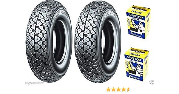 Michelin S83 3 50 10 59j Reifen Paar Luftkammern Für Piaggio Ape 50 Auto
