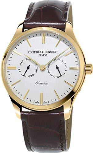 Frederique Constant Men's 40mm Brown Nylon Band Quartz Watch FC-259ST5B5