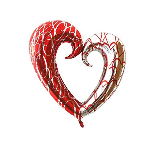 ★ ★ rm palloncino p026xxl fogli d' alluminio palloncino cuore amore san valentino matrimonio 110cm gigante cuore palloncino ★ ★ rm