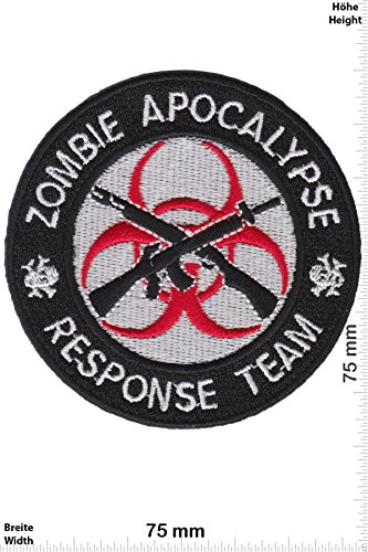 Patch - Zombie Apocalypse - Respomse Team - black - Movie Game Patch - Cartoon - Comic - Patches - Aufnäher Embleme Bügelbild Aufbügler - Costume