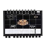 Sintonizzatore Stereo,Equalizzatore Grafico Equalizzatore Car Audio EQ 7s Con Ingresso e Manopola Da 3,5 Mm