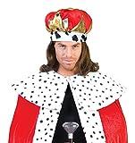 Krone zum König Kostüm für Erwachsene - Stroffkrone zum Königin oder König Faschingskostüm zu Karneval, Geburtstag oder Junggesellenabschied für Krone zum König Kostüm für Erwachsene - Stroffkrone zum Königin oder König Faschingskostüm zu Karneval, Geburtstag oder Junggesellenabschied