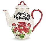 """Mother's Love Is Forever"" Geranium 44Oz Teapot"