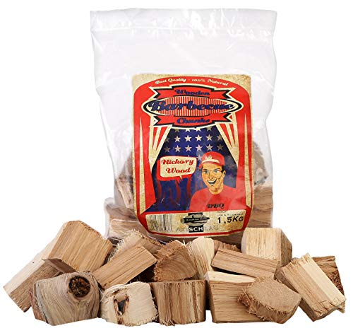 Axtschlag Räucherklötze, Wood Smoking Chunks, Hickory, Holz, 1,5 kg -