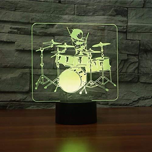Dwthh 7 Farbwechsel 3D Visuelle Led Trommel Rolle Form Tabelle Leuchtende Atmosphäre Nachtlicht Kinder Geschenk Usb Baby Schlaf Wohnkultur Beleuchtung