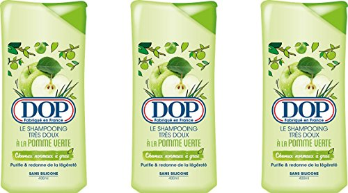 DOP–Shampoo molto morbido alla mela verde per capelli normali grassi–400ml–Set di 3