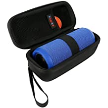 Teckone EVA duro caso del recorrido lleva el bolso para JBL Flip 3 or Flip 4 hilos portable del altavoz Bluetooth (Negro)