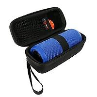 per JBL Flip 3 Flip 4 altoparlante portatile senza fili antiurto Hard Case viaggio Carry Bag by Khanka (nero)