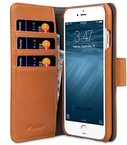 Apple Iphone 7 Melkco Elite-Serie Premium Leder-Snap zurück Tasche Tasche mit Premium-Leder Handgefertigte gute Schutz, Premium Feel-Tan Tan PU