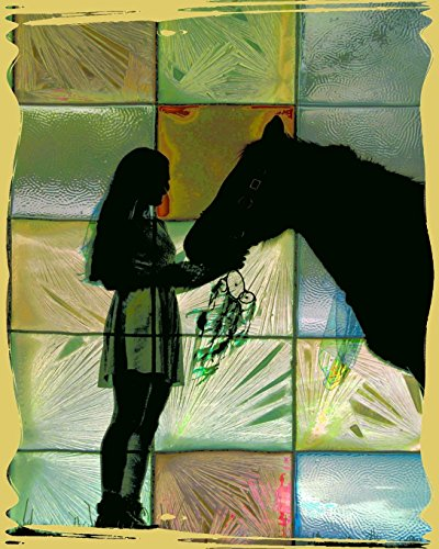 Horse Notebook: College Ruled - Lined Journal - Composition Notebook - Soft Cover Writer's Notebook or Journal for School  - College or Work -  Abstract Horse Lover Crazy Horse Rodeo