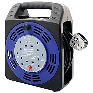 25M EXTENSION CABLE REEL LEAD 4 SOCKET