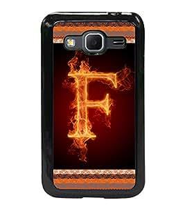 Fuson 2D Printed Alphabet F Designer back case cover for Samsung Galaxy Core Prime - D4195