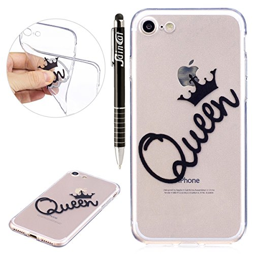 iPhone 6S Plus Hülle,iPhone 6 Plus Hülle,iPhone 6S Plus/6 Plus Silikon Hülle Tasche Handyhülle,SainCat Flamingos Flamingos Muster Ultra dünne Silikon Hülle Schutzhülle Durchsichtig Hadytasche Stoßfest Die Königin