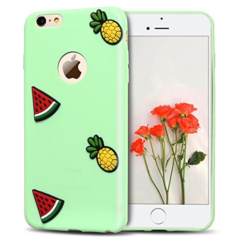 2x Morbido Apple iPhone 6 iPhone 6s (4.7 pollici) Custodia , SpiritSun Apple 6S TPU Custodia per iPhone 6 iPhone 6s Moda Flessibile Sottile Molle Custodia Silicone Morbido Copertura Leggero Protettiva Cactus + Anguria
