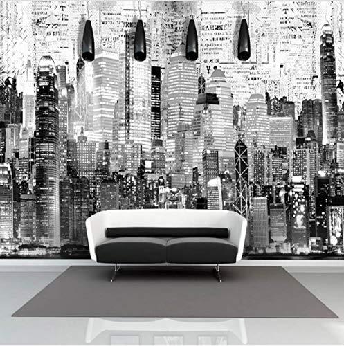 Svsnm Fototapete Retro Custom Hongkong City Nacht Landschaftsmalerei Ktv Wohnzimmer Europäischen Stil Architektur Wandbild Tapete A
