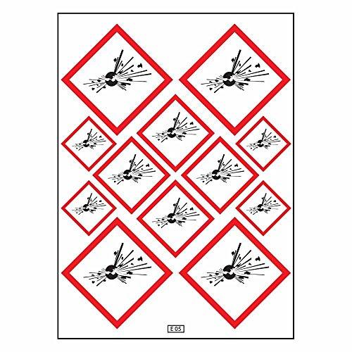 Brett A4Aufkleber-Produkte Sprengstoff selbstklebend? E05