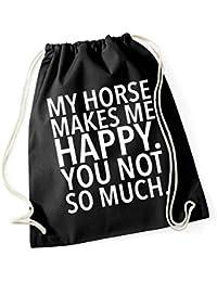 My Horse Makes me Happy - You Not Borsa De Gym Nero Certified Freak 0550cbe8b8f